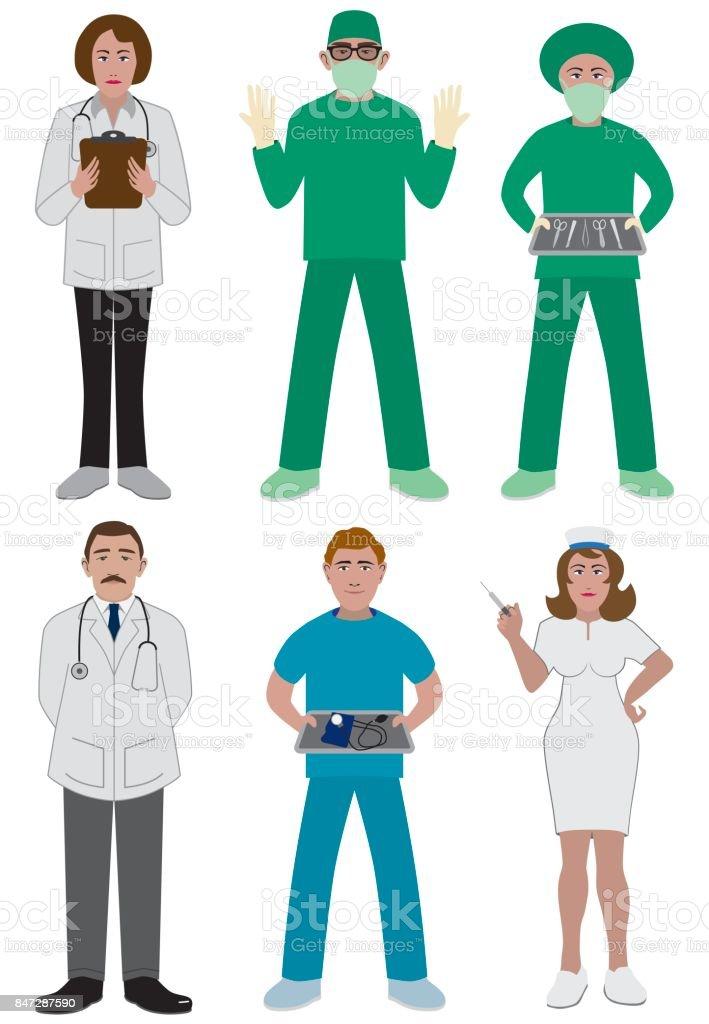 Medical Personnel vector art illustration