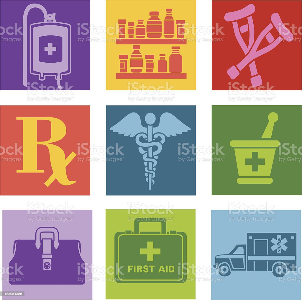 medical pop art style icons royalty-free medical pop art style icons stock vector art & more images of accidents and disasters