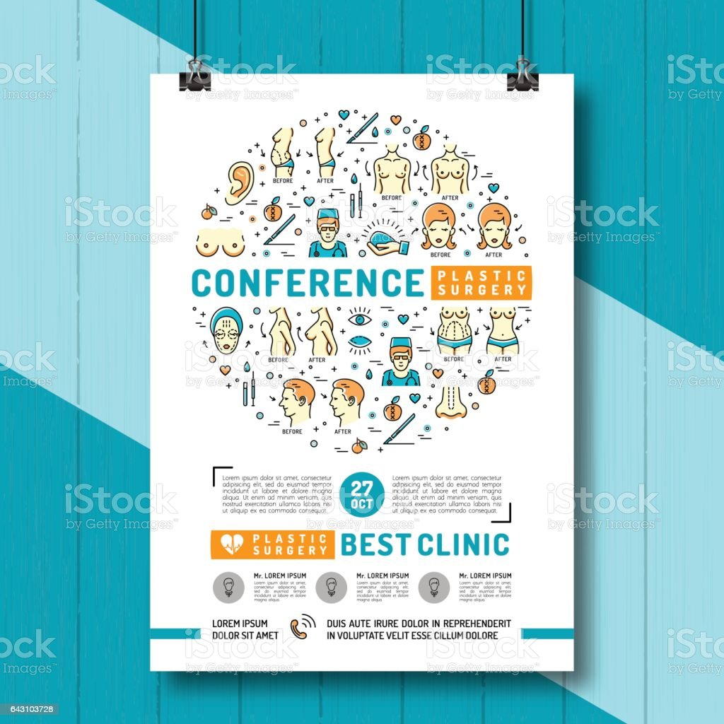 Medical Poster Of The Conference And Exhibition Of Plastic