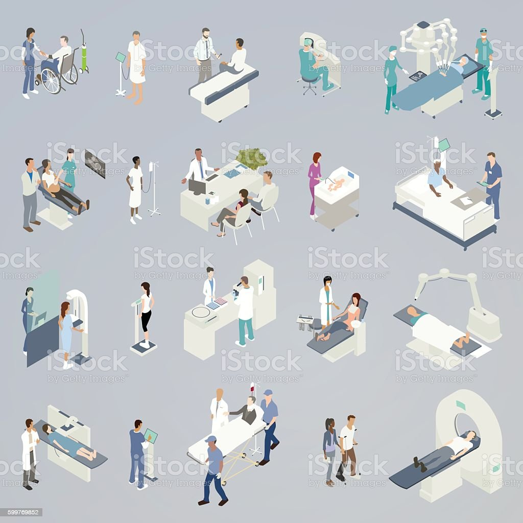 Medical Procedure Illustrations vector art illustration