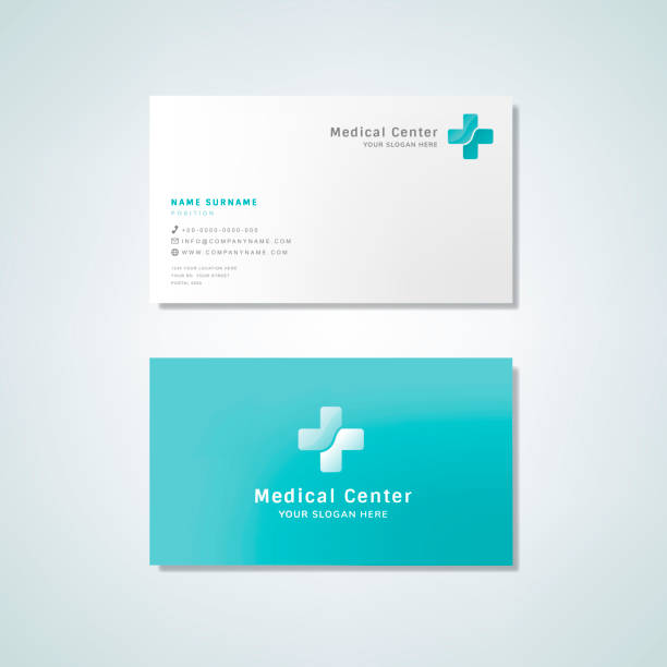 Medical professional business card design mockup Medical professional business card design mockup business cards templates stock illustrations