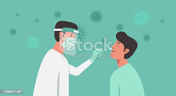 istock medical professional doing Covid-19 or Coronavirus test 1256521297