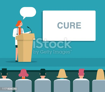 istock Medical Professional Giving Speech About Cure 1171836080
