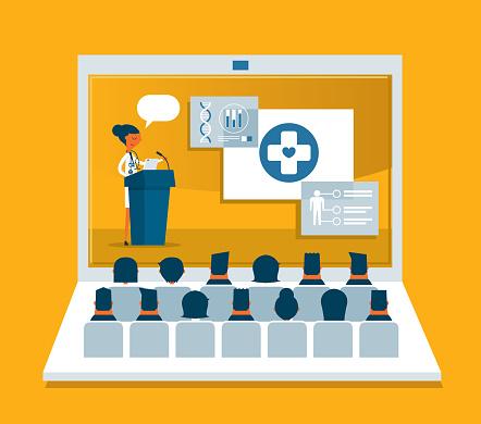 Medical Professional Giving Speech - Laptop