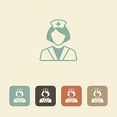 Medical professional. Nurse vector icon