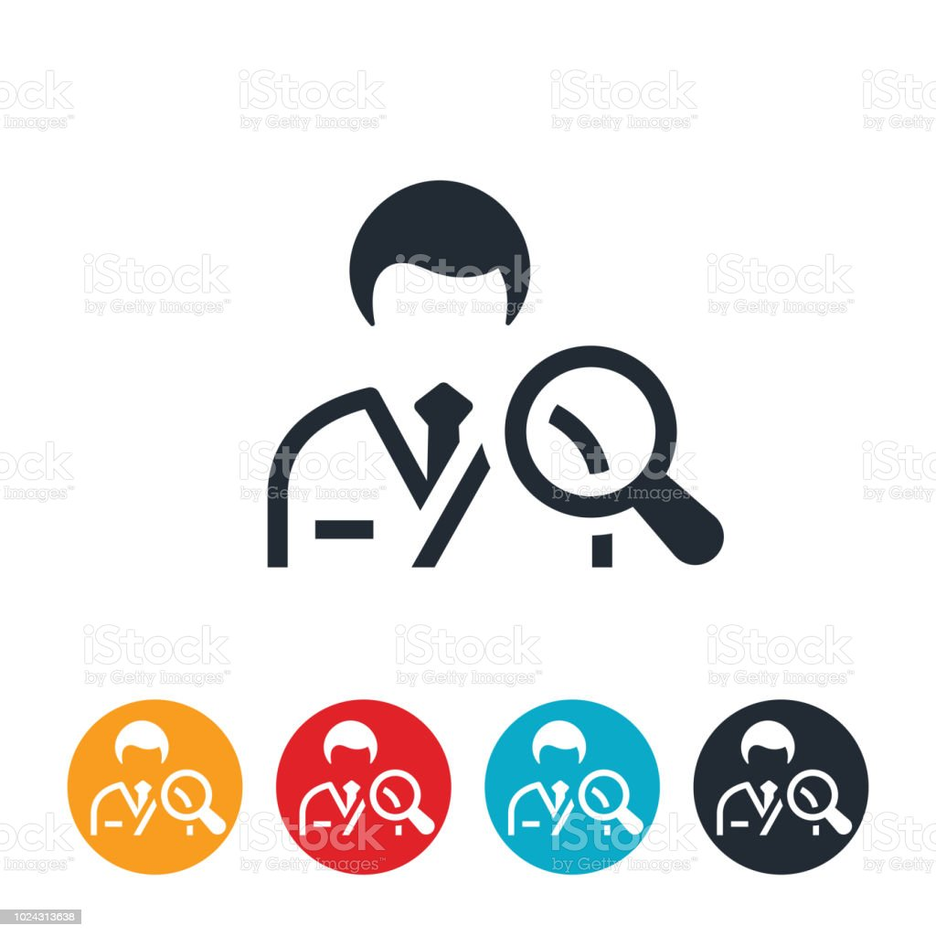 Medical Professional Search Icon vector art illustration