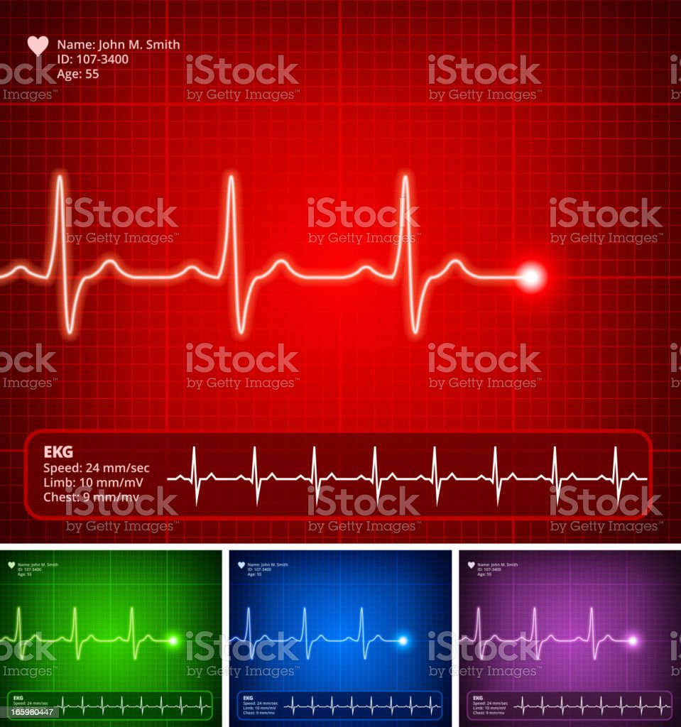 Medical Pulse Collection royalty-free stock vector art