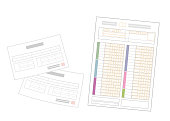 istock Medical receipts and tax returns. Image Illustration. 1268151379