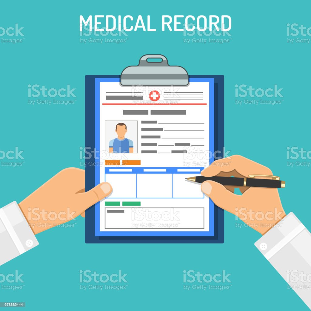 Medical record concept vector art illustration