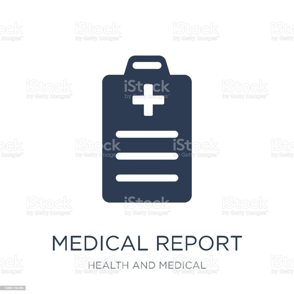 Medical Report icon. Trendy flat vector Medical Report icon on white background from Health and Medical collection vector art illustration