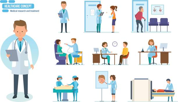 Royalty Free Doctor Visit Clip Art, Vector Images ...