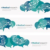 Medicine Science Research banners / templates  including icon set.