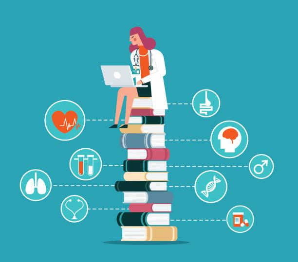 nursing education stock illustrations