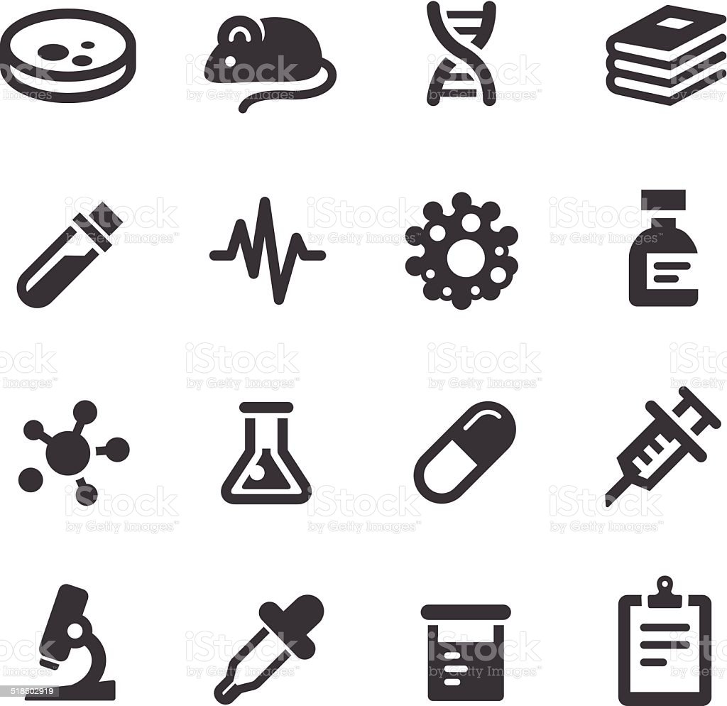 Medical Research Icons - Acme Series vector art illustration