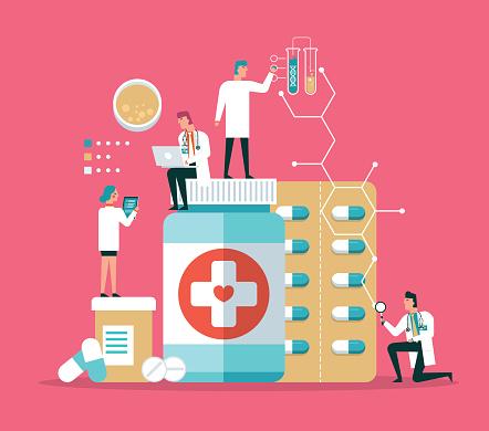 Medical research laboratory diagnostics