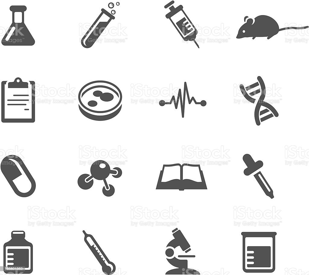 Medical Research Symbols vector art illustration