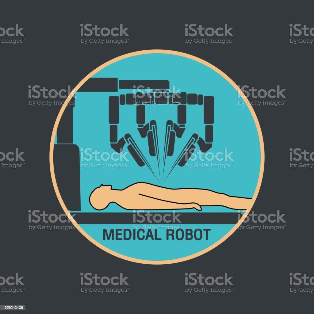 medical robot icon vector vector art illustration