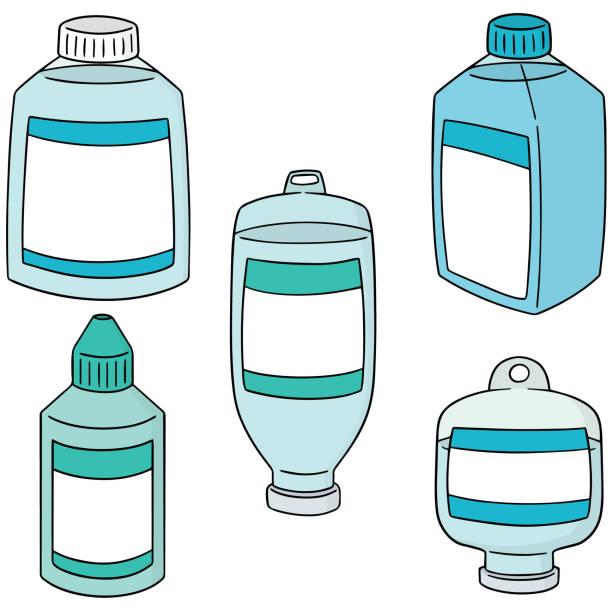 stockillustraties, clipart, cartoons en iconen met medische zoutoplossing - infuusoplossing