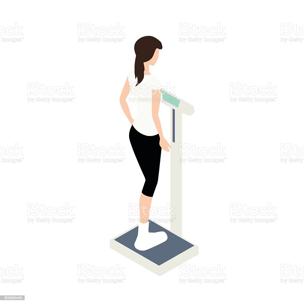 Medical scale illustration vector art illustration