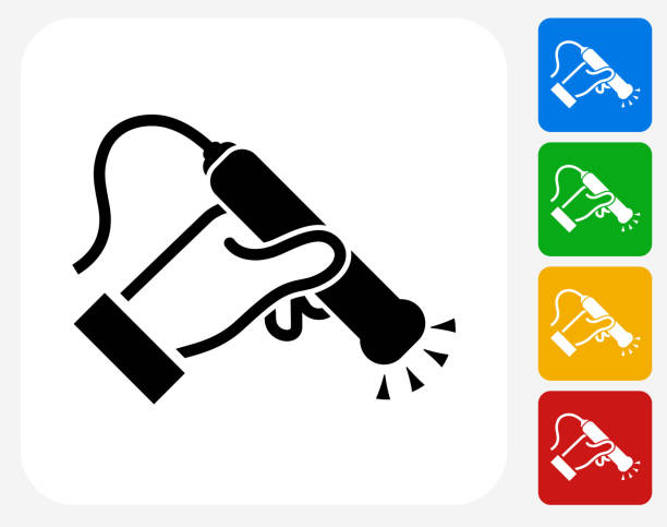 Medical Scan Icon Flat Graphic Design Medical Scan Icon. This 100% royalty free vector illustration features the main icon pictured in black inside a white square. The alternative color options in blue, green, yellow and red are on the right of the icon and are arranged in a vertical column. scientific imaging technique stock illustrations