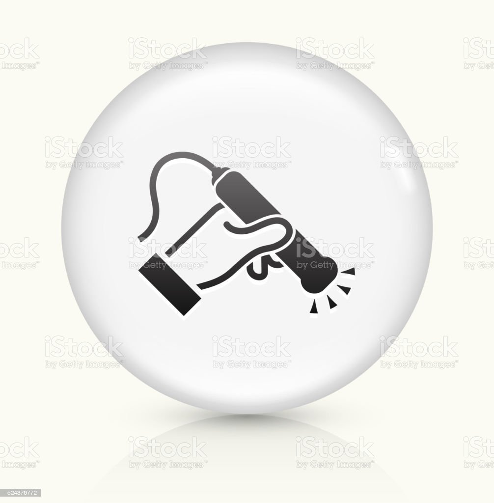 Medical Scan icon on white round vector button vector art illustration