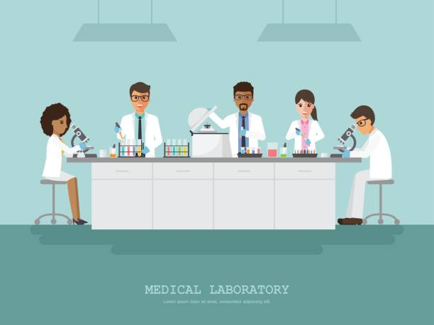 Medical science laboratory vector art illustration