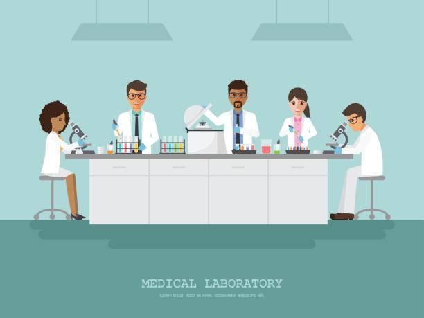ilustrações de stock, clip art, desenhos animados e ícones de medical science laboratory - scientist