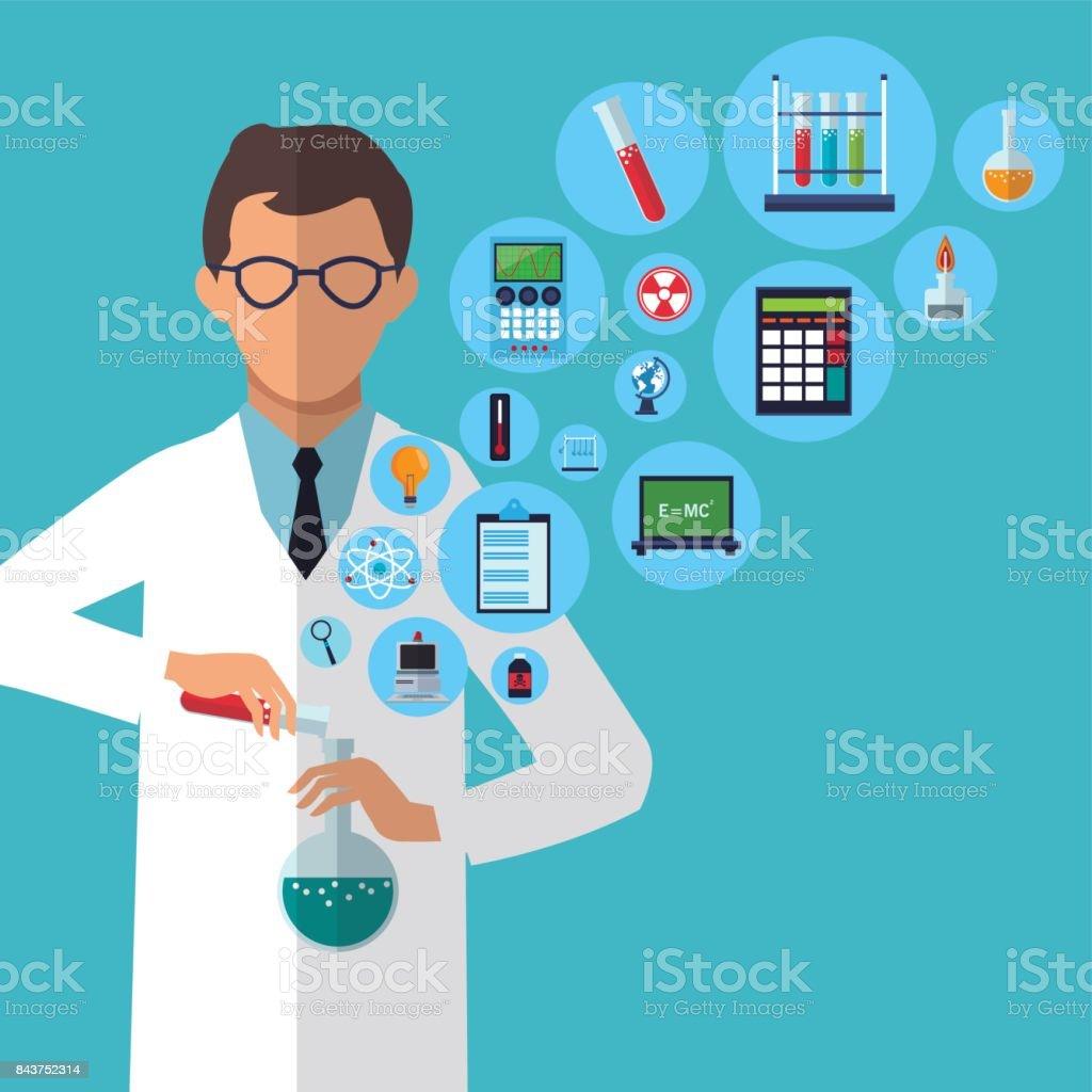 医学者の実験実験室の供給 - アイデアのベクターアート素材や画像を ...