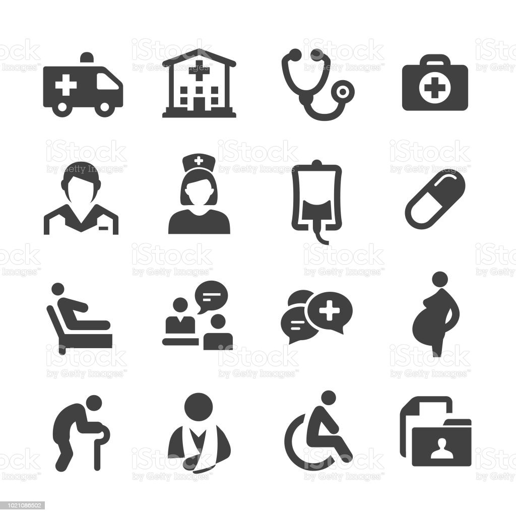Medical Service Icons - Acme Series - arte vettoriale royalty-free di Ambulanza