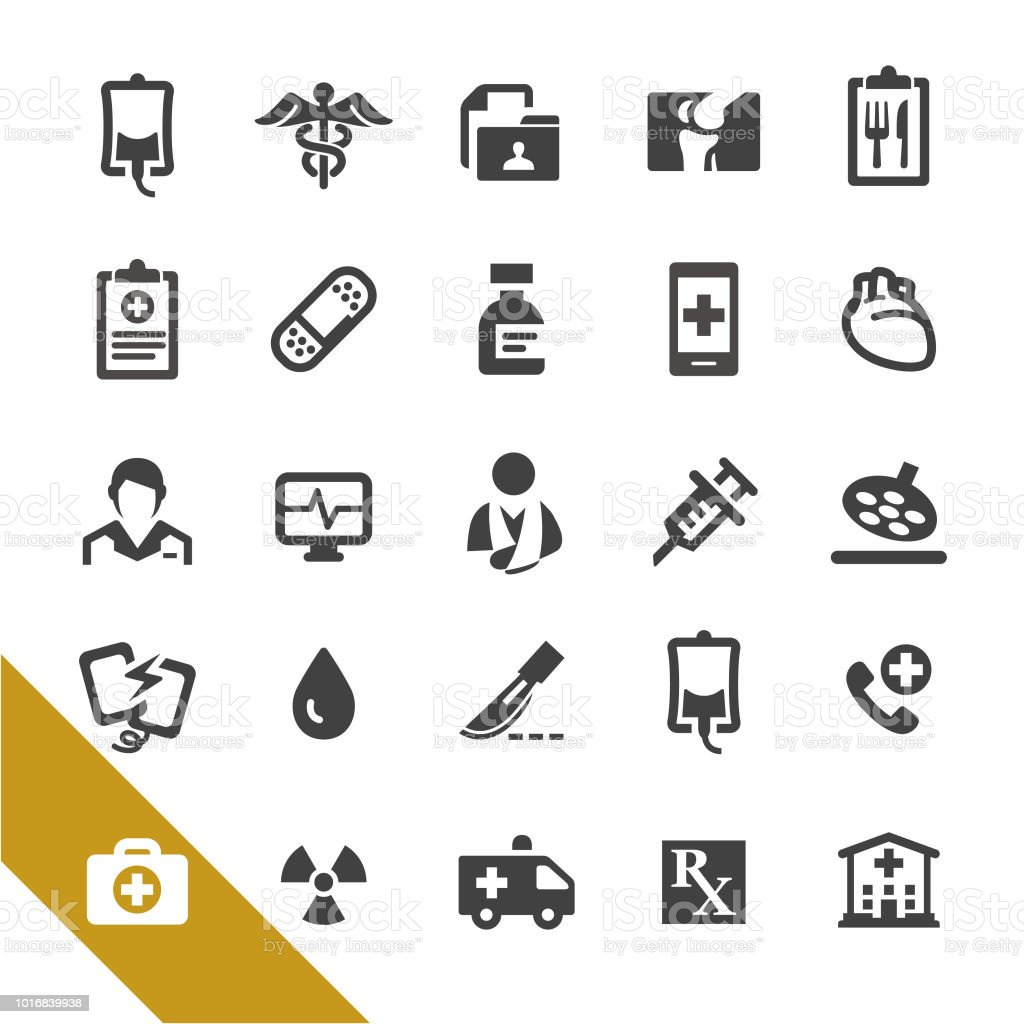 Medical Services and Emergency Icons - Select Series vector art illustration