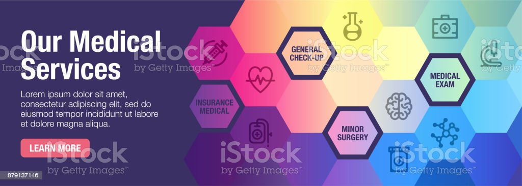 Medical Services Banner vector art illustration