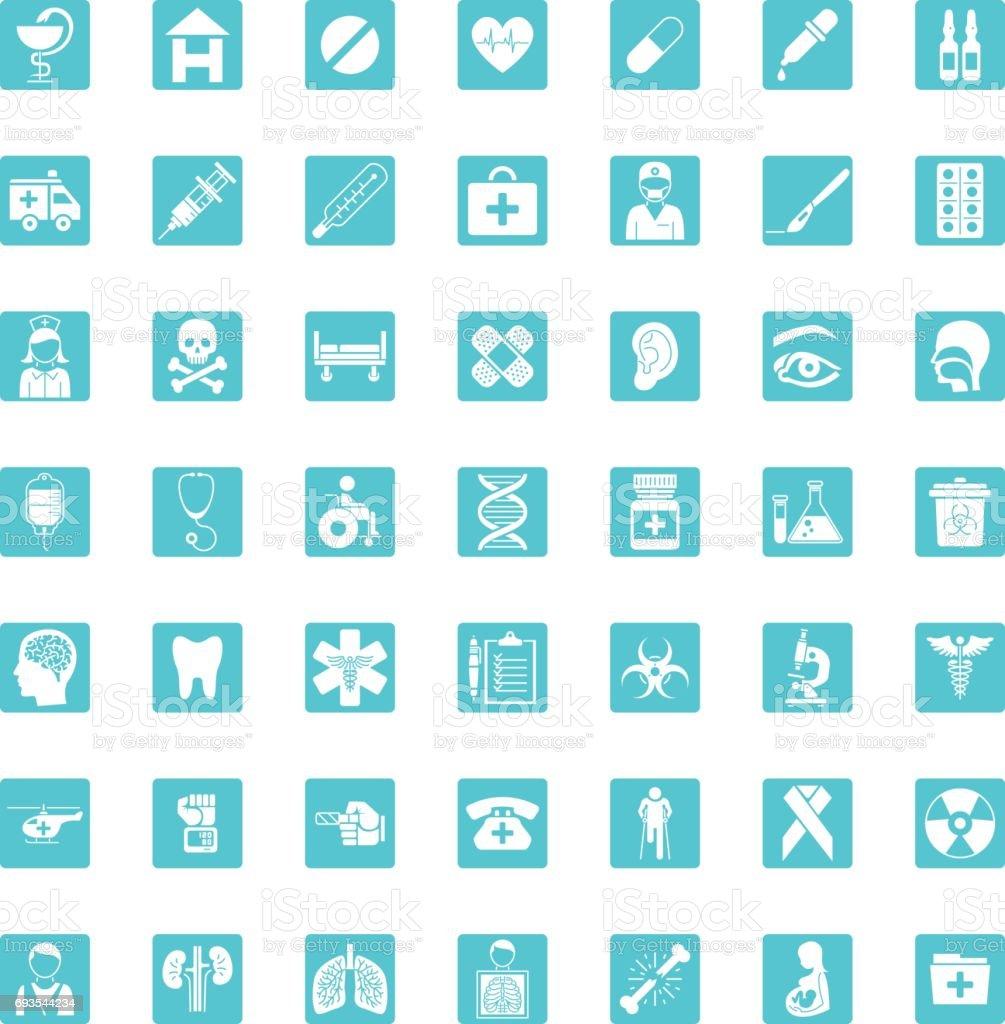 Medical Set Forty-nine icons vector art illustration