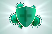 medical shield protecting from corona virus infection