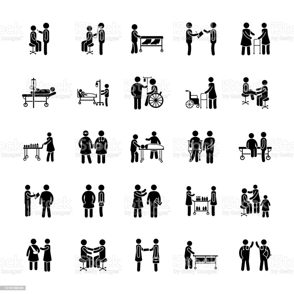 Medical Situations Icons Pack vector art illustration