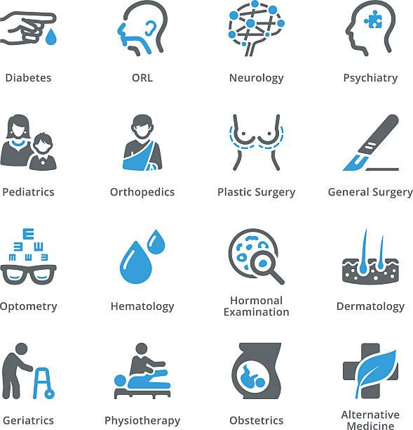 Medizinische Spezialitäten-Icons Satz 2-Sympa Serie – Vektorgrafik
