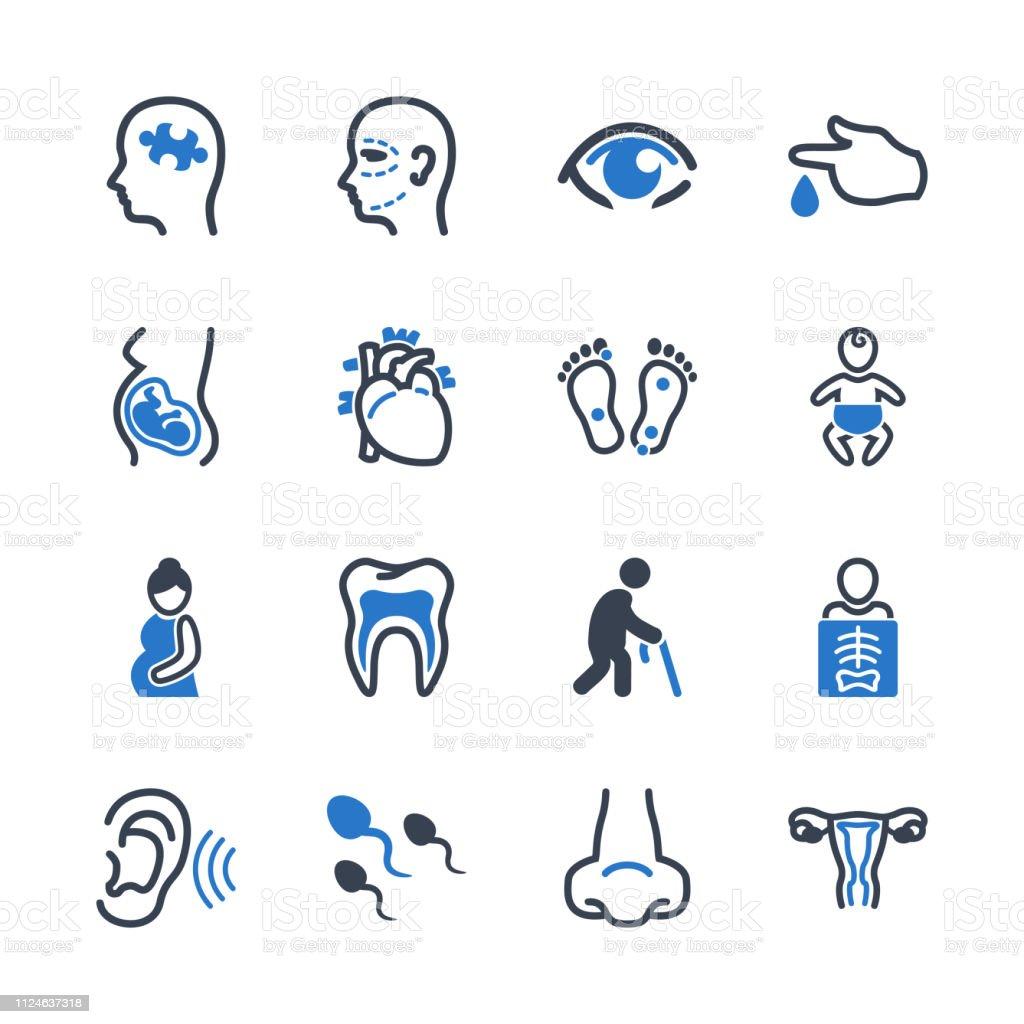 Medizinischen Fachgebieten Icons – Vektorgrafik