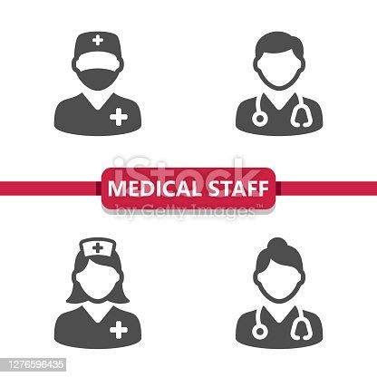 istock Medical Staff Icons 1276596435