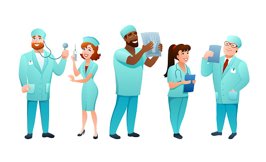 Medical staff of specialists