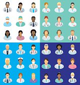 Medical staff - people icons