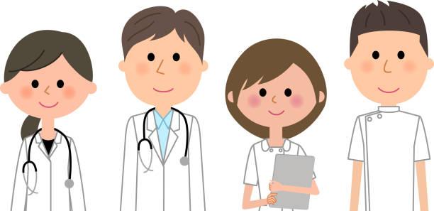 医療スタッフ - 看護師点のイラスト素材/クリップアート素材/マンガ素材/アイコン素材