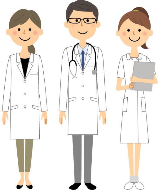 ilustrações, clipart, desenhos animados e ícones de equipe de funcionários médica - enfermeira