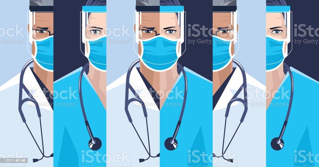 Medical staff. - Grafika wektorowa royalty-free (Bezpieczeństwo i higiena pracy)