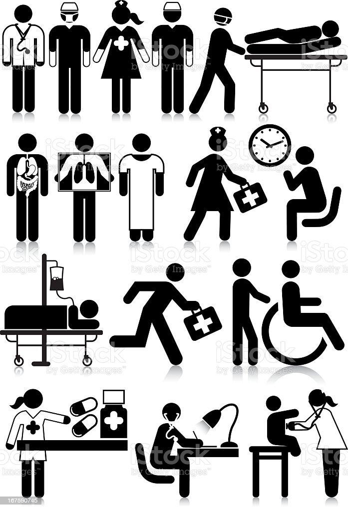 Personnel médicale - Illustration vectorielle