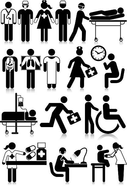 medical staff - surgeon stock illustrations, clip art, cartoons, & icons