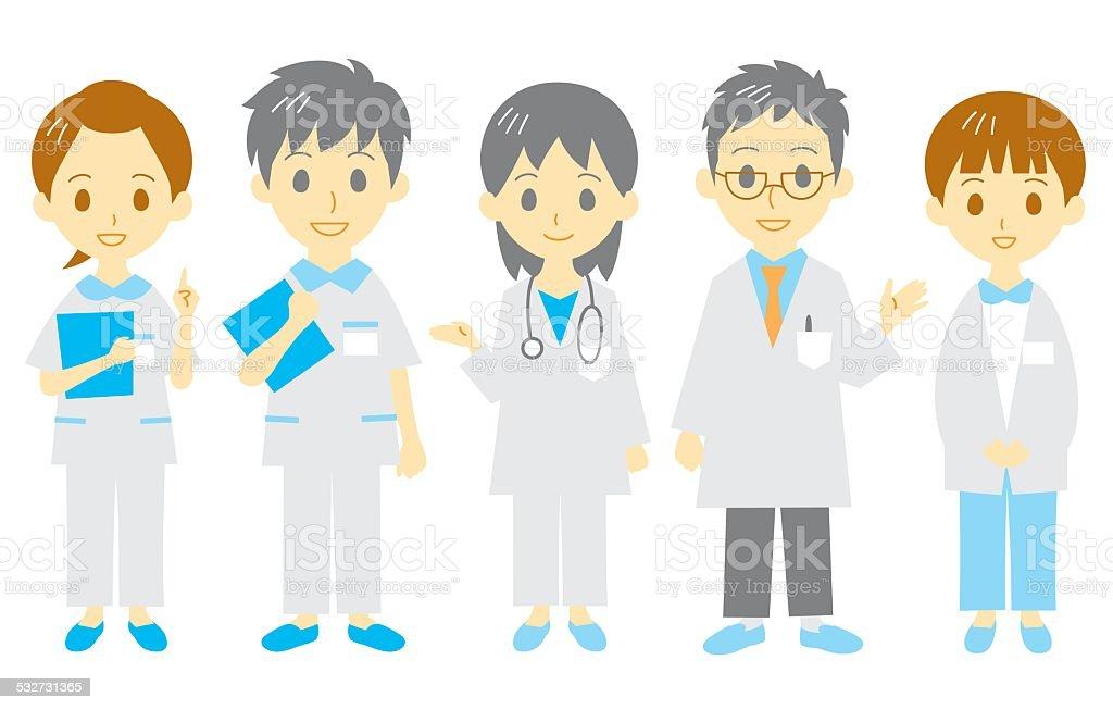 medical staff vector art illustration