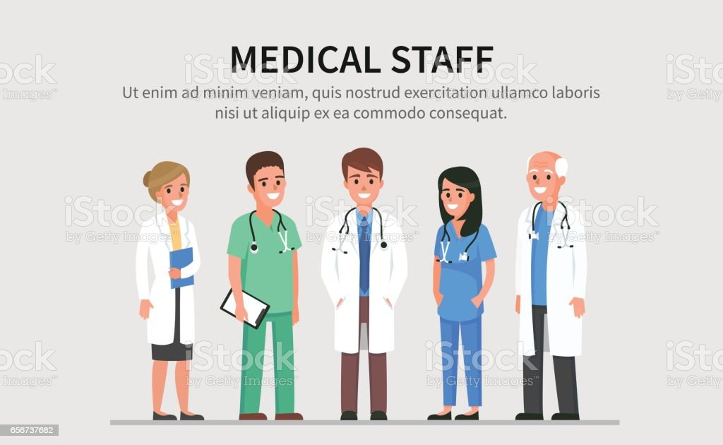 Medical staff vector art illustration