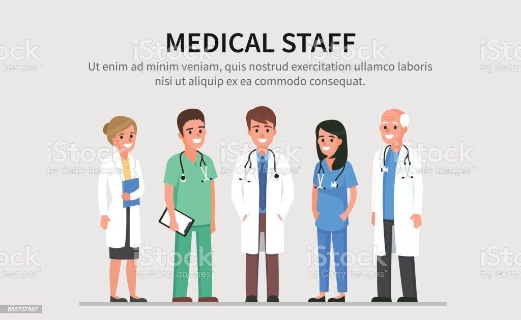 Equipe médica - ilustração de arte em vetor