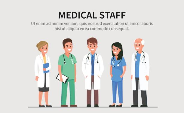 medical staff - лабораторный халат stock illustrations