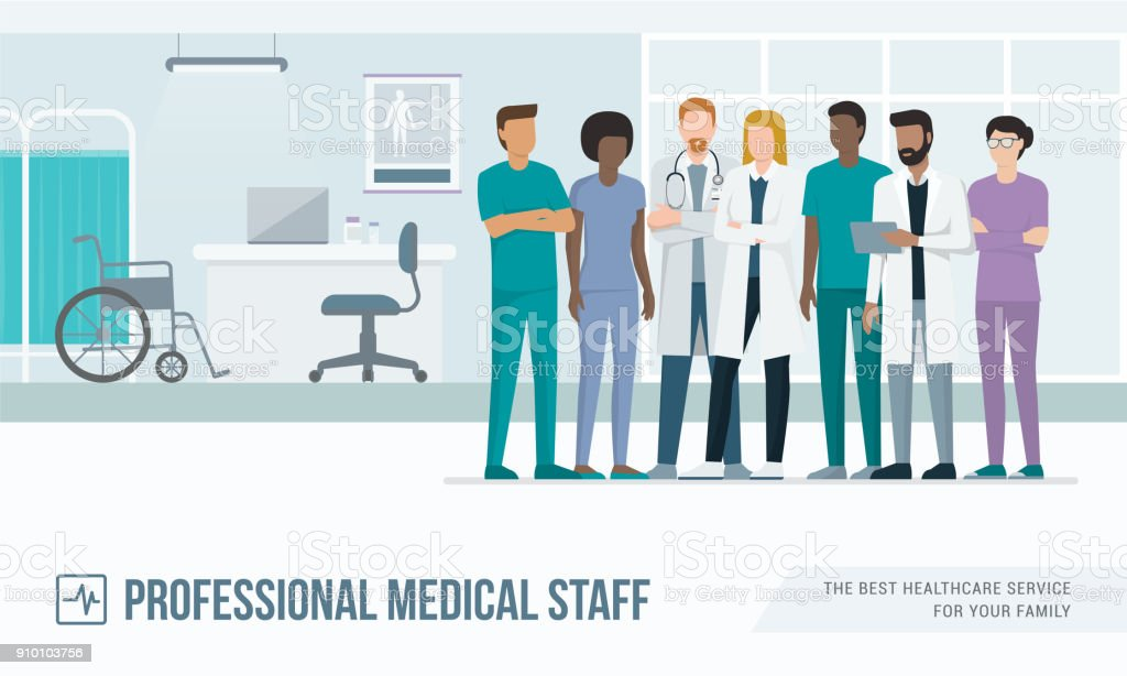 Personnel médicale - Illustration vectorielle