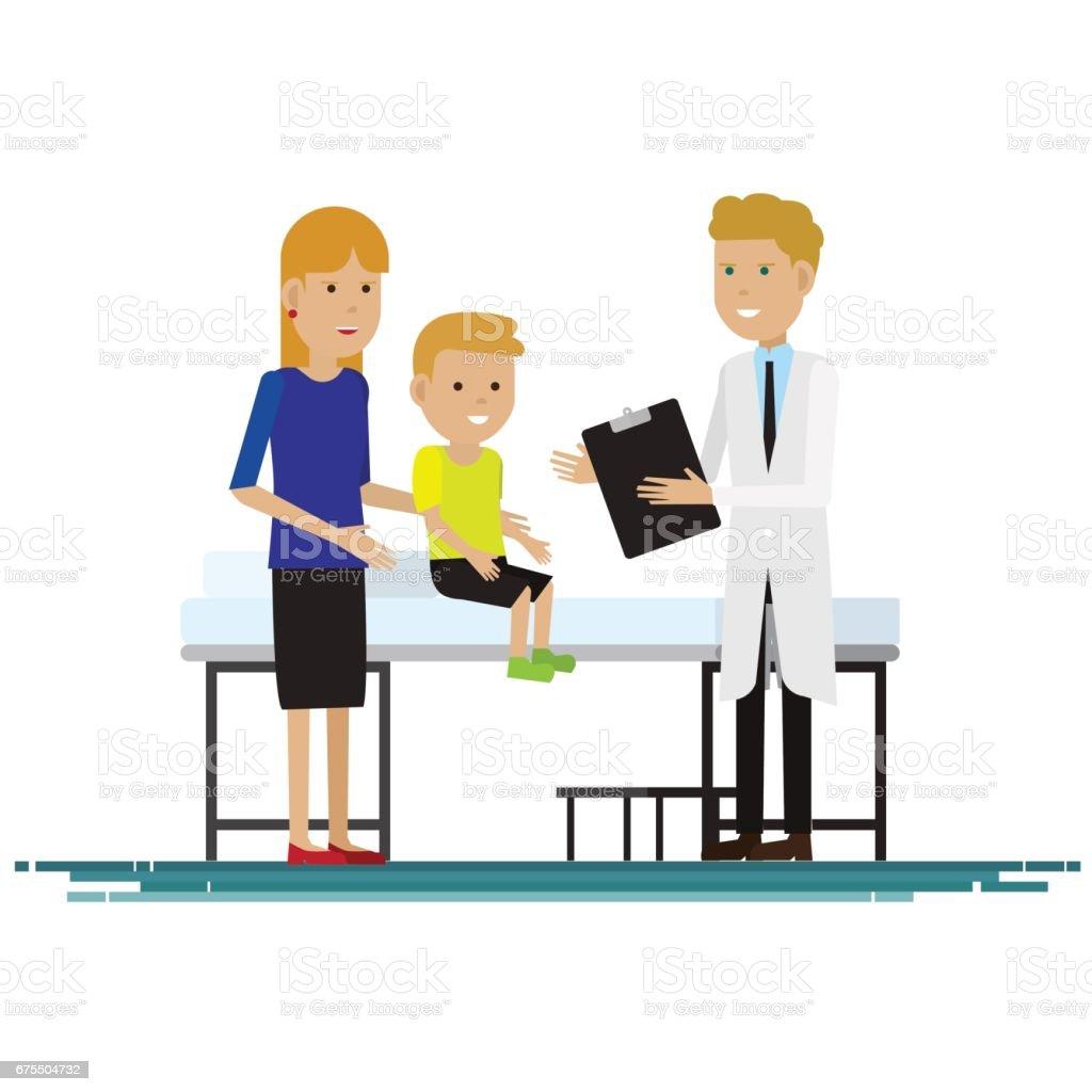personnel médical avec la mère et l'enfant dans la chambre. Illustration vectorielle personnel médical avec la mère et lenfant dans la chambre illustration vectorielle – cliparts vectoriels et plus d'images de adulte libre de droits